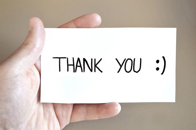 děkuji vám karta
