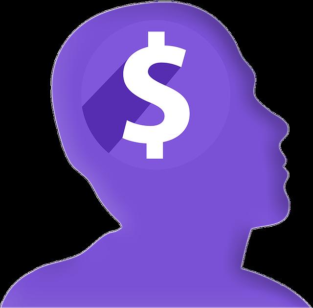 modrá hlava, dolar, symbol